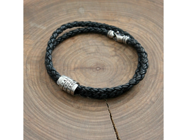 personalized men's custom bracelet