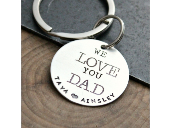 keychain with children's names