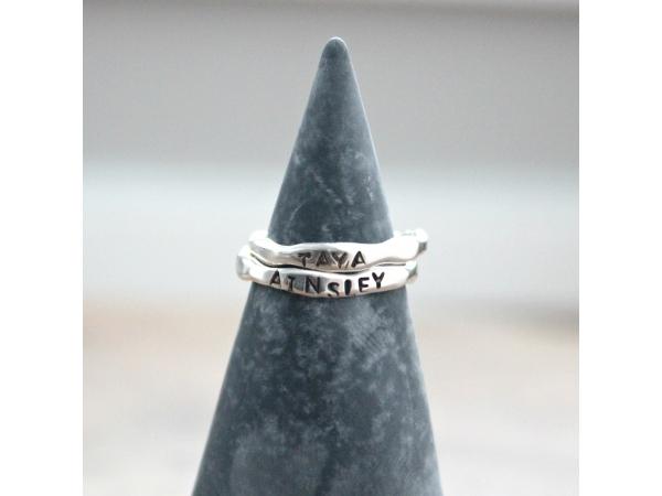organic custom silver ring