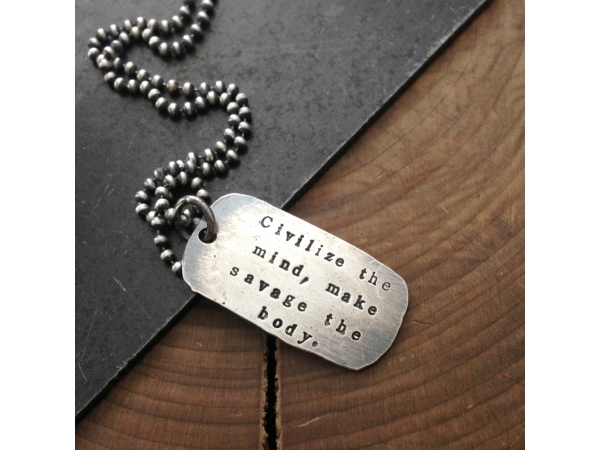 men's quote necklace