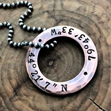 men's coordinates necklace