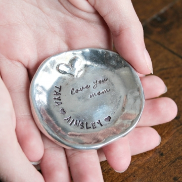 personalized pewter ring dish